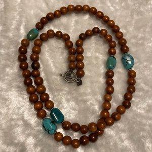 ☘️SILPADA Turquoise & Wood Bead Necklace☘️